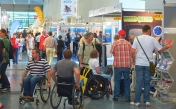 The Karlsruhe Trade Fair and Exhibition Centre has been built to accommodate the needs of the disabled and is therefore barrier-free.
